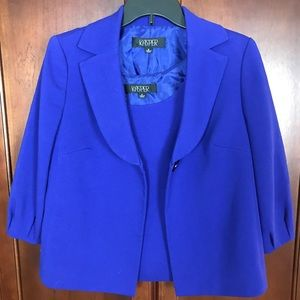 Kasper Purple Blazer Top Set 8
